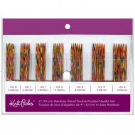 Rainbow Wood Double Point Knitting Needle Set