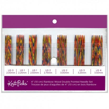 Rainbow Wood Double Point Knitting Needle Set